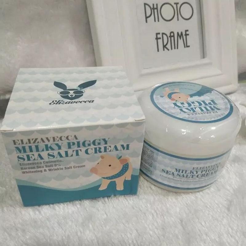 1pc 100g Korean Milk Sea Salt Cream Mask For The Face Skin Care Cosmetics Sleep Facial Masks Bright White Moisturizing Hydration