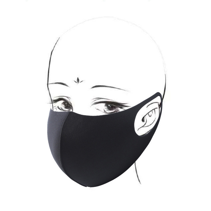 500pcs/lot Factory Price Black Mouth Mask Anti Dust Mask Activated Carbon Windproof Mouth-muffle Bacteria Proof Flu Face Masks