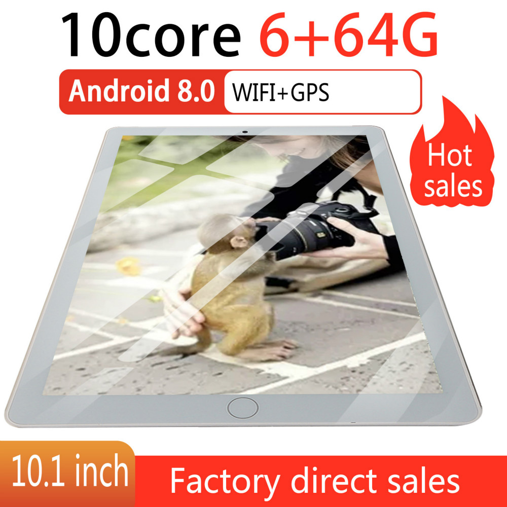 10.1 Inch Android 8.0 Tablet Android Octa Core MTK6582 RAM 6GB ROM 64GB 4G Dual SIM Card Phone 4G Call Wifi Tablets PC 2020