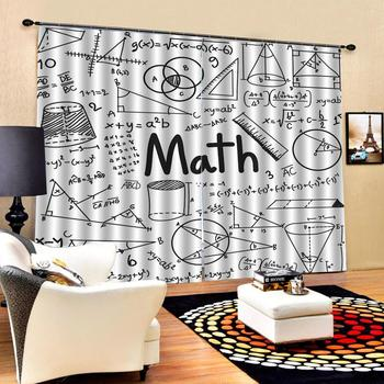 Modern Home Decoration Living Room Curtains 3d Mathematical symbol geometry Blackout curtain