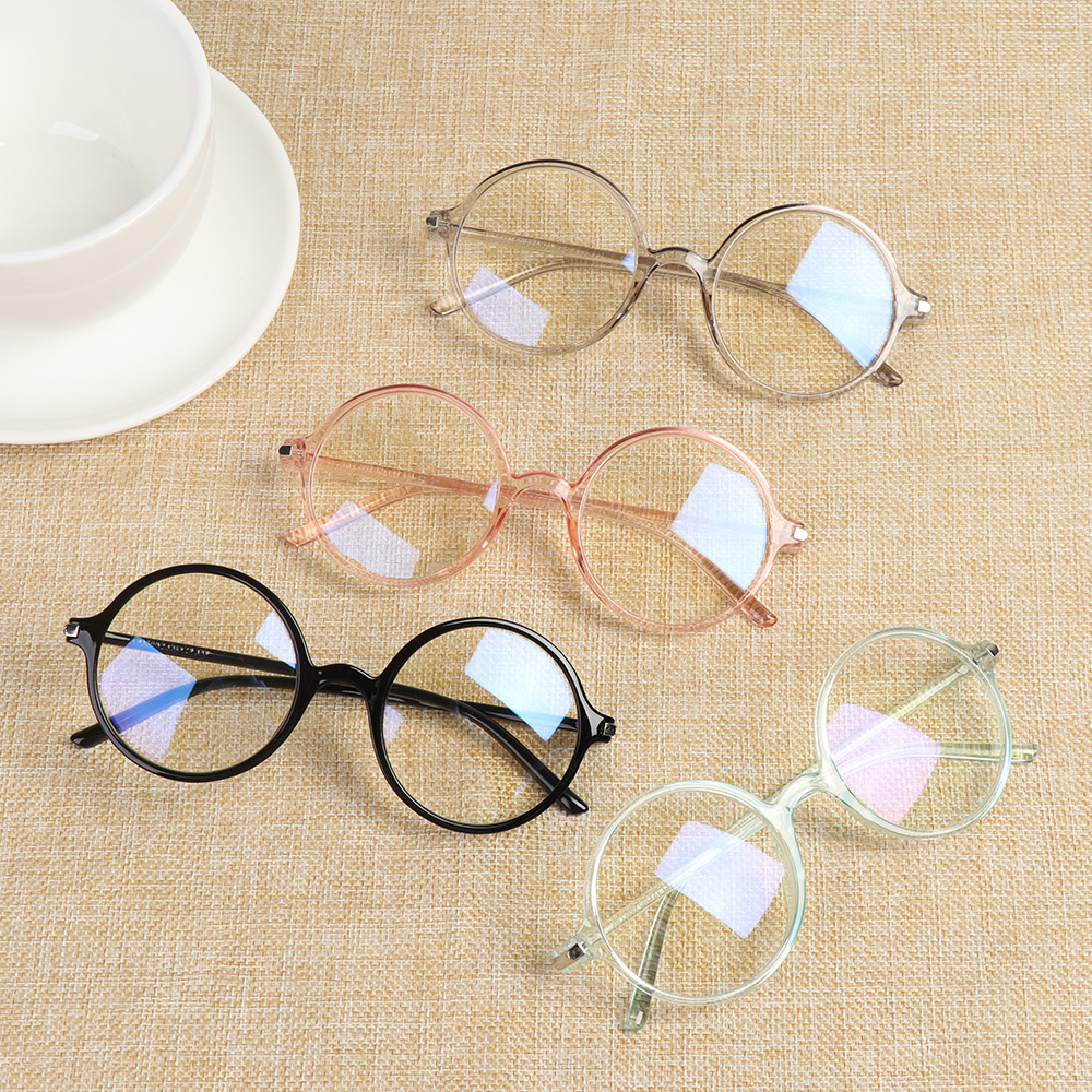 Classic Transparent Round Reading Glasses Women Anti Blue Rays Eyewear Eyeglasses Computer Goggles Spectacle Frames Vision Care
