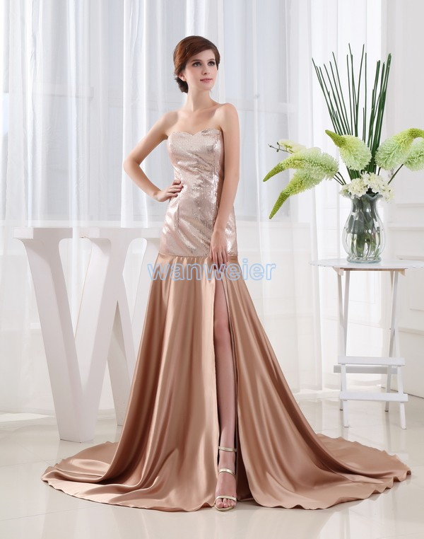Free Shipping 2016 New Design Formal Dresses Brides Maid Dresses Maxi Dresses Long Sequined Vestidos Formales Sexy Prom Dresses