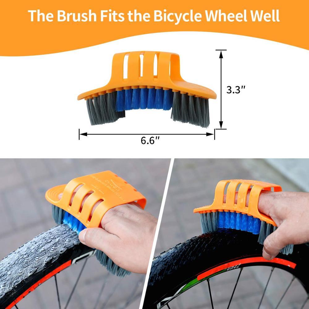Dirt Funxim Bicycle Cleaning Brush Set 8 PCS Bike Cleaning Tool For Bike Chain