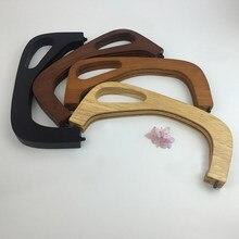 Cadre de porte-monnaie en bois, 1 pièce, 25x12cm, poignées en bois pour sacs à main, Sangle, poignée, accessoires de bricolage