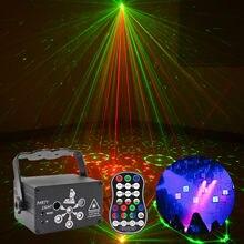 120 padrão rgb dj led laser lâmpada usb mini luz de discoteca controle remoto uv projetor casa casamento festa barra decoração palco luz