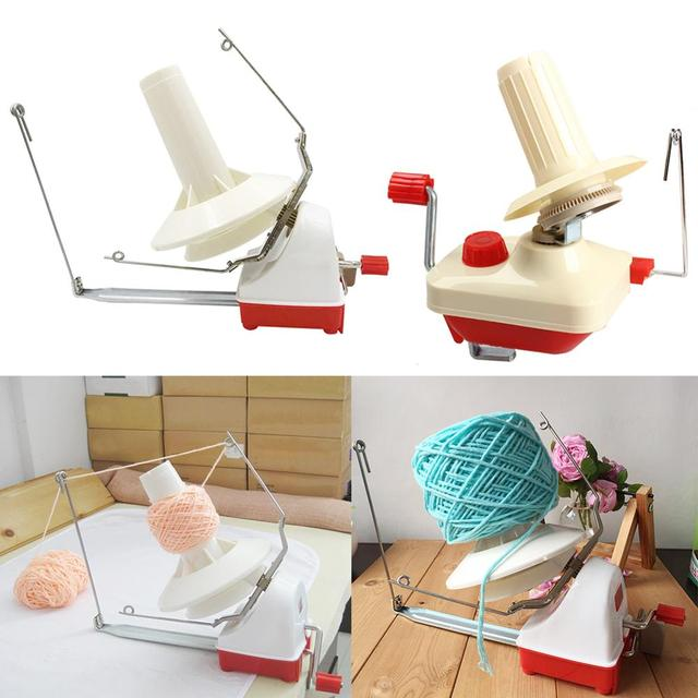 Household Swift Yarn Fiber String Ball Wool Hand Operated Winder Holder Machine Enlargement of Threading Holes Improve