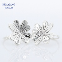 925 Sterling Silver Earring Lucky Four leaf Clovers Hanging Earrings For Women Wedding Gift Fine Europe Jewelry 297908CZ