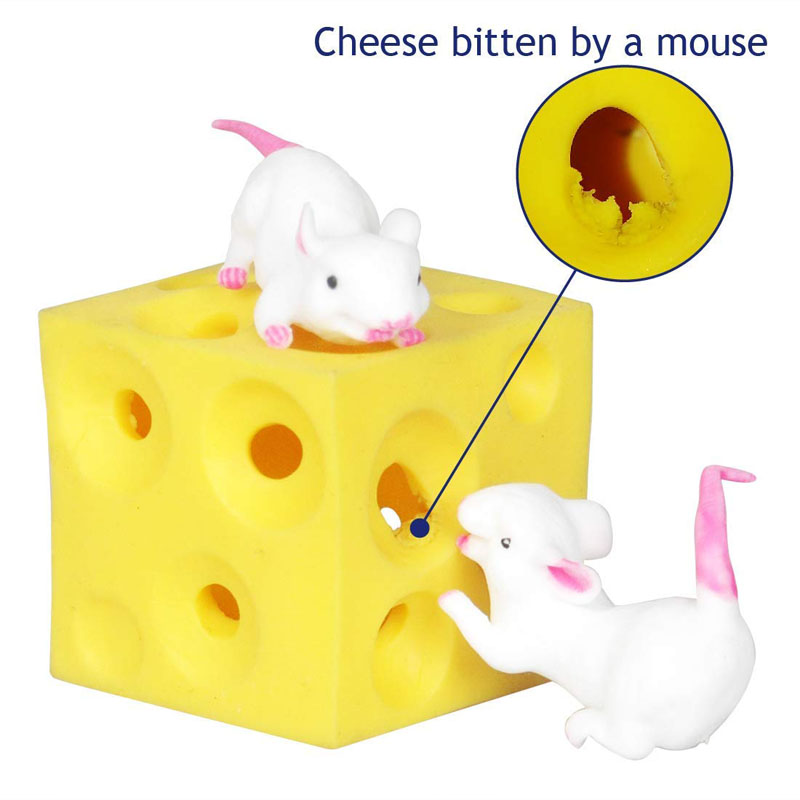 Top SaleCheese-Toy Mouse Seek Girl High-Quality Stress-Relief Hide And for Boy Baby Latex