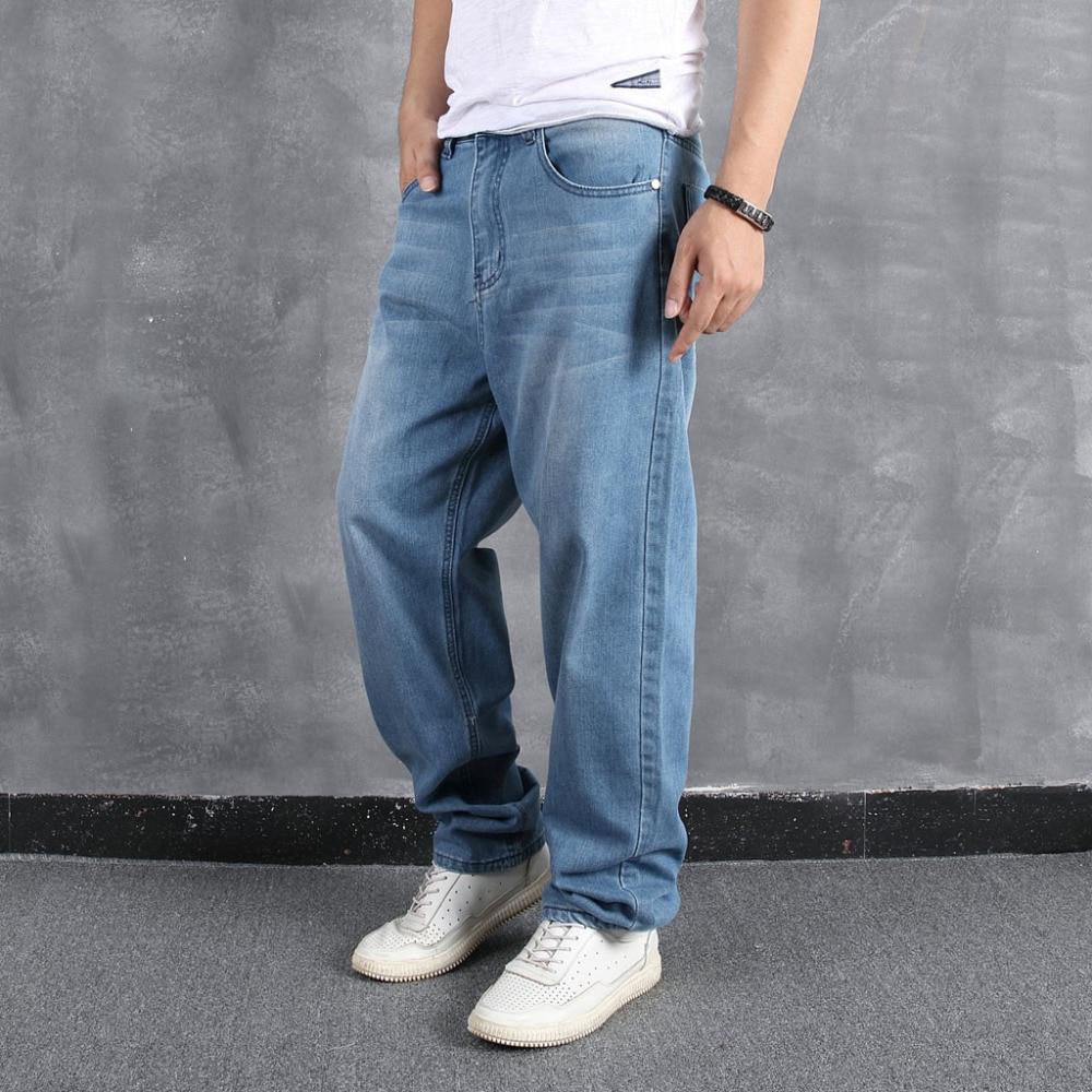 Men`s Loose Large Size Fat Casual Fashion Hip Hop Street Dance Denim Trousers #4L31 (14)