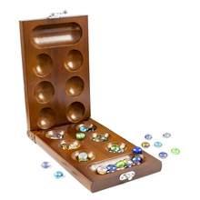 Mancala tahta oyunu taşlar ile katlanır katı ahşap strateji oyunları yetişkinler için eğitici oyuncaklar çocuklar hediye