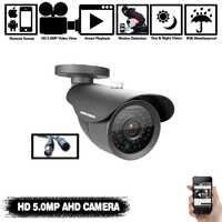 NINIVISION Super Video Vigilancia HD analógica 5MP AHD cámara de vigilancia exterior impermeable Cámara 5.0MP con filtro de corte IR