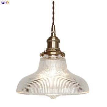 IWHD Nordic Style Copper Pendant Light Fixtures Kitchen Dinning Living Room Lights Modern Glass Hanging Lamp Lamparas Colgantes post modern art gold copper pendant lights lighting nordic luxury decorative kithcen hanging lamp dinning room light fixtures