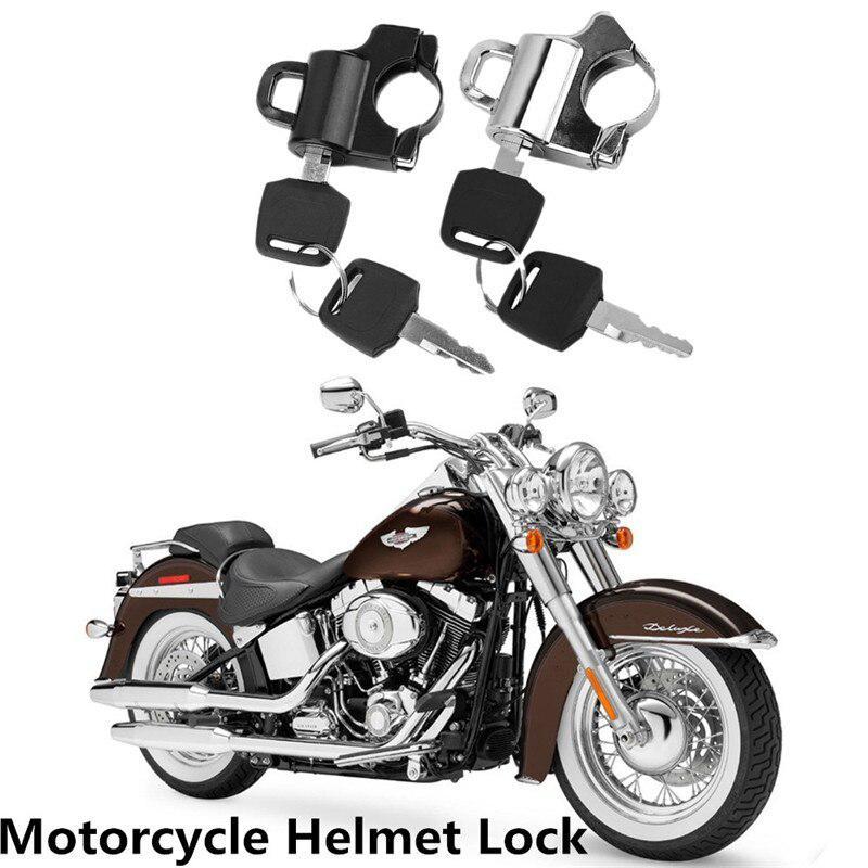 Universal Motorcycle Helmet Security Lock Helmet Lock 22MM Handlebars Padlock With 2 Keys Motorcycle With 22MM