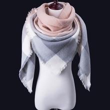 Evrfelan модный теплый зимний шарф, Женский треугольный шарф и шаль, женские теплые клетчатые брендовые шарфы, женские шали, шарфы, Прямая поставка