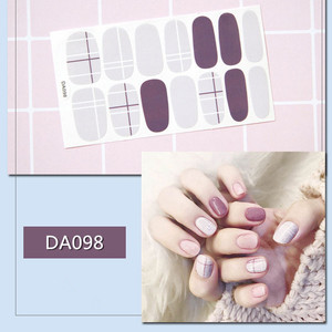 Image 4 - 2019 Korea Designed Full Wraps Shiny Nail Art Sticker Decals Multicolor Nail Stickers Strips DIY Salon Manicure Drop Ship