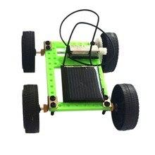 Solar Toys Car 1 Set Mini Solar Powered Toy Diy Car Kit Children Educational Gadget