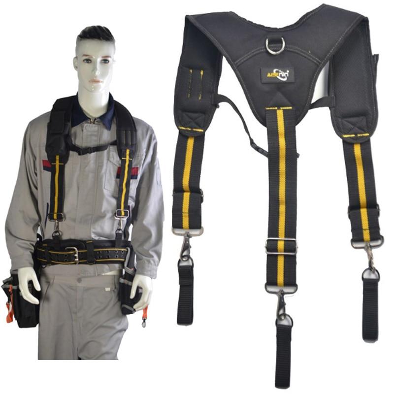 Heavy Work Tool Belt Braces Suspender Y Type Men Tooling Suspender Can Hang Tool Bag Reducing Weight Multifunction Tooling Strap