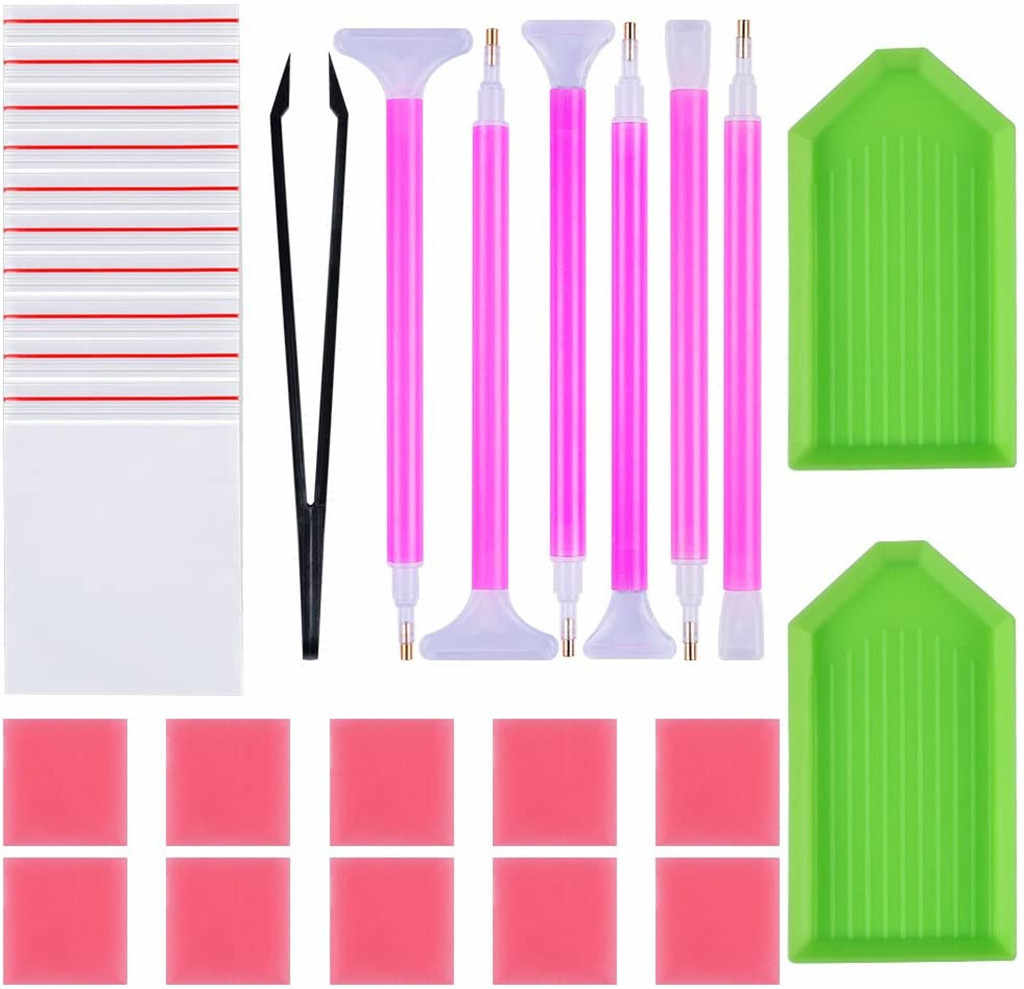 DIY Diamant Malerei Werkzeuge Zubehör Kit 5D Kreuz Stich Stickerei Diamant Malerei Stift Set Kleber Stift Set Kit Pinzette