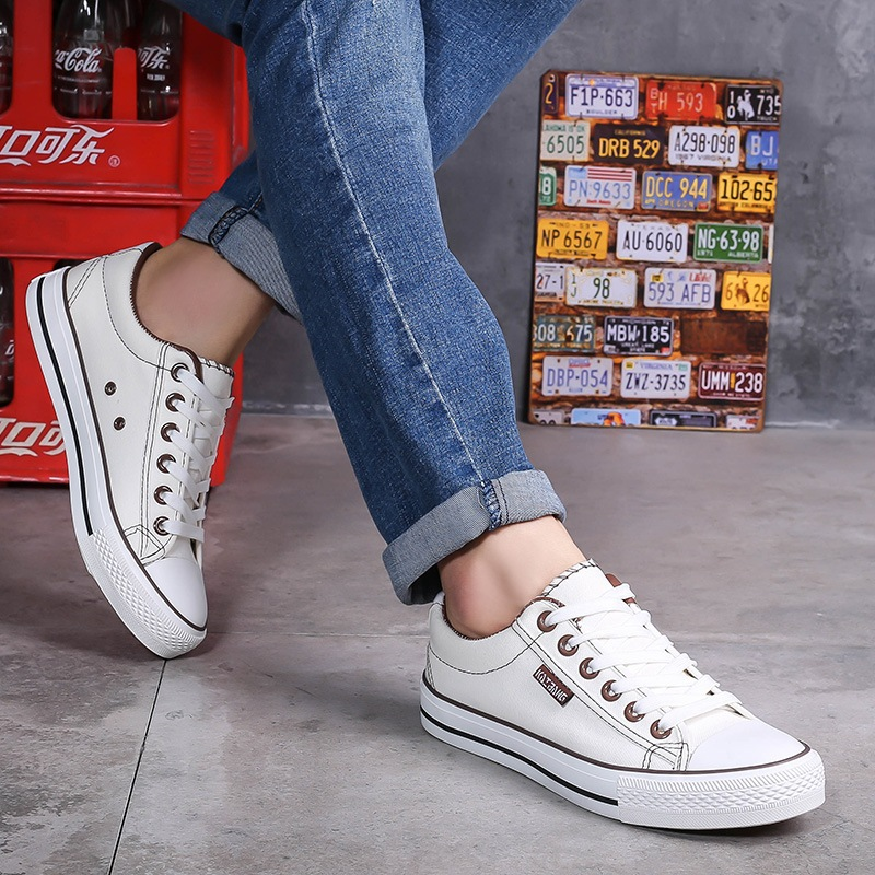 2020 Sneakers Mens Canvas Shoes Fashion Cool Street Sneakers Breathable Men's Casual Shoes Male Brand Classic Black White Shoes 2