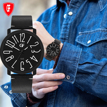 Exaggerated figures Men Watches Luminous Business Quartz Retro Design Clock Leather Strap Male WristWatch Gift Relogio Masculino