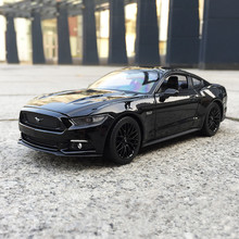 Welly 1:24 2015 Ford Mustang GT Black sports car Car Model Supercar Model Alloy Car Model Collection Gift aston martin db9 coupe 1 18 car model welly fx original collection alloy diecast sports car supercar boy luxury cars simulation