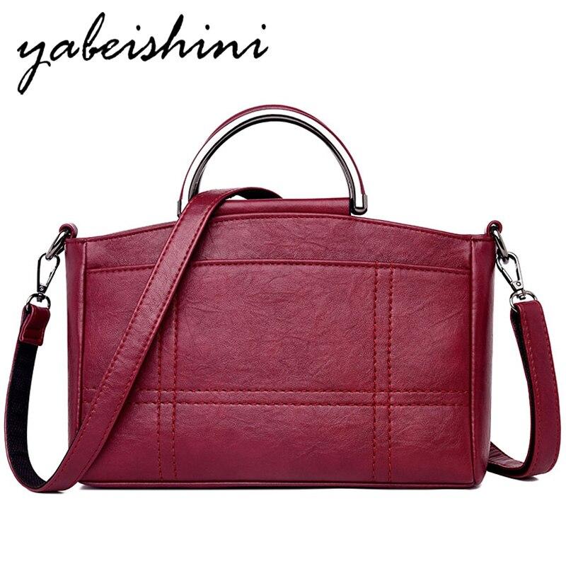 Women Handbag 2019 Luxury Brands Shoulder Bag Women Leather Tote High Quality Women's Bags Lady Crossbody Bag Sac A Main Femme
