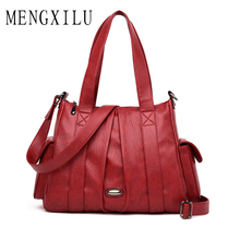 купить Fashion Luxury Handbags Women Shoulder Bag Casual Large Tote Bags High Quality Soft Leather Ladies' Crossbody Messenger Bag Sac по цене 1666.71 рублей