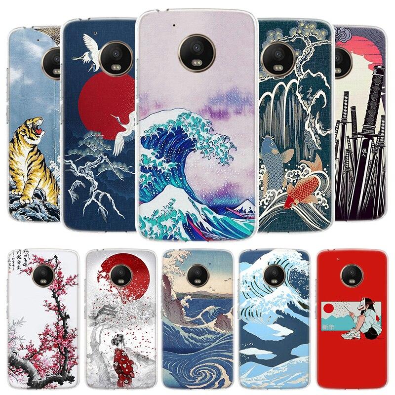 Tokyo Japanese Art Cover Phone Case For Motorola Moto G8 G7 G6 G5S G5 E4 Plus G4 E5 E6 Play Power One Action EU Gift Shell