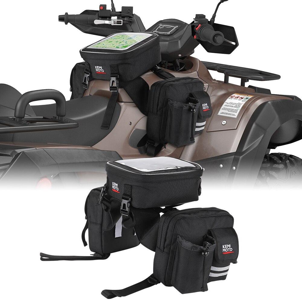 Мотоцикл ATV Универсальный 1680D обновление сохраняет тепло крутая сумка для топливного бака для Polaris Sportsman 500 570 800 для Yamaha Raptor Banshee Детали и аксессуары для мотовездехода      АлиЭкспресс