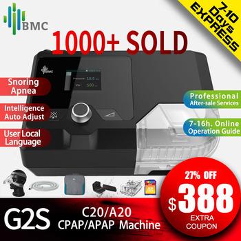 BMC nowości maszyna CPAP G2S C20 A20 Homeuse sprzęt medyczny do chrapania snu i bezdechu z NM4 maska i nawilżacz tanie i dobre opinie CHINA G2S C20 A20 CPAP Auto CPAP 274 * 184 * 115mm 2 4 inch 28DB 100 - 240 V AC 50 60 Hz 2 0 A max