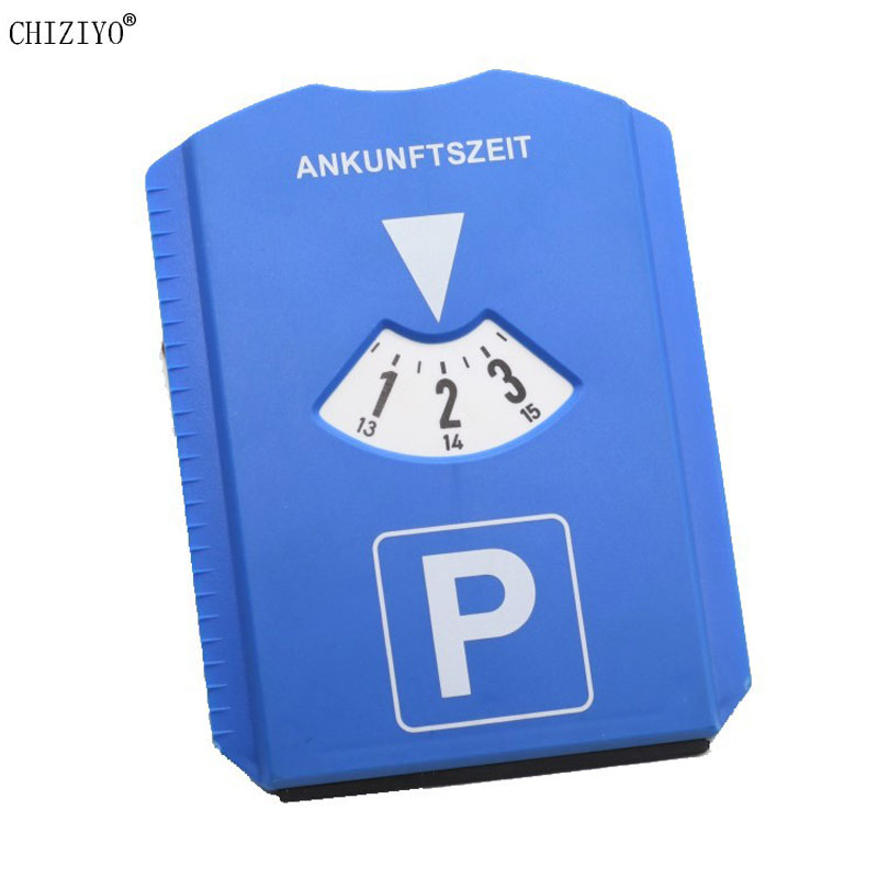 Portable Blue Car Temporary Parking Timer Snow Removal Shovel Clock Arrival Display Area Parking Time Card Tools Turntable