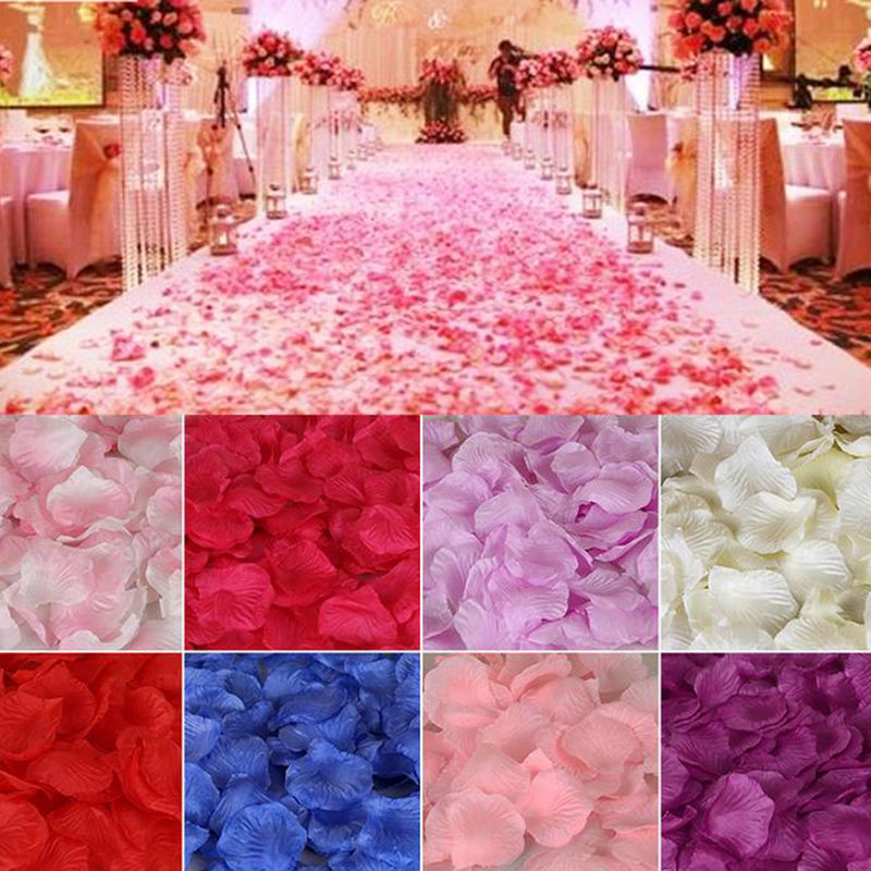 100-5000 pétalas de rosa artificiais coloridas românticas dos pces para o casamento, festa 11 cores, 4.5*4.5cm pétalas falsas 5z