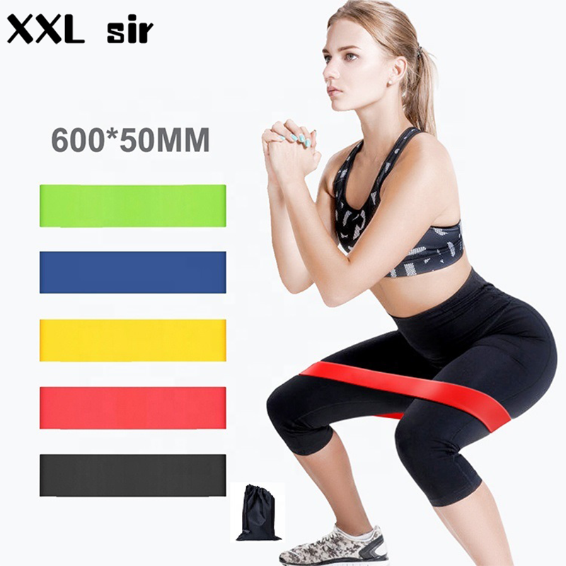 5 Level Fitness Workout Resistance Bands Yoga Pilates Sport Training Rubber Elastic Band Exercise Loop Gym Equipment Hip Circle