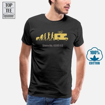 Gold Edition Camping-Car Caravane Camping Evolution T-Shirt Tailles S-Xxxl Harajuku Tops T Shirt Fashion Classic Unique love jesus cuss little funny shirt cool southern country gift t shirt free shipping tops fashion classic unique gift