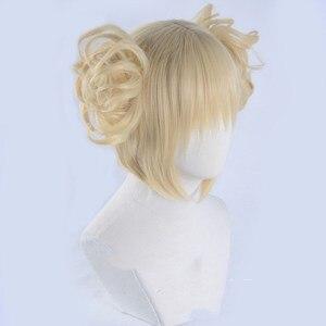 Image 5 - Peluca Boku no Hero Academia de My Hero Academia, Himiko Toga, Cosplay de estilo corto Rubio + gorro de peluca