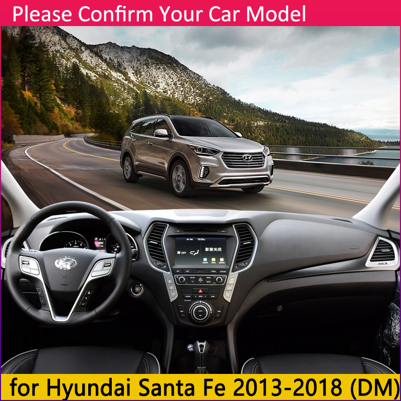 Image 3 - for Hyundai Santa Fe 2013 2014 2015 2016 2017 2018 DM IX45 Anti Slip Mat Dashboard Cover Pad Sunshade Dashmat Carpet Accessories-in Car Stickers from Automobiles & Motorcycles