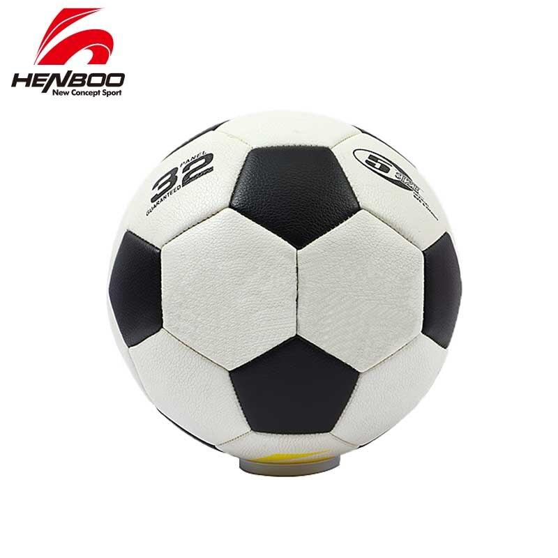 HENBOO PVC Soccer Ball Official Size 4 Size 5 Soccer Goal League Ball Outdoor Sports Soccer Training Balls Football Black