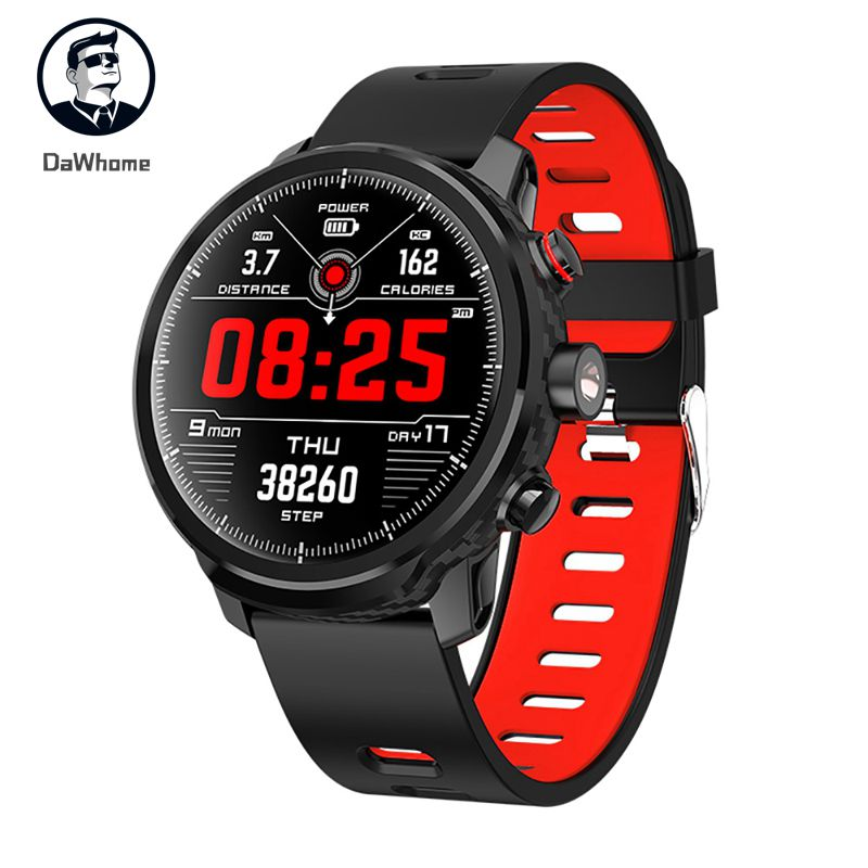 <font><b>L5</b></font> <font><b>Smart</b></font> <font><b>Watch</b></font> <font><b>Men</b></font> <font><b>IP68</b></font> Waterproof Standby 100 Days Multiple Sports Mode Heart Rate Monitoring Weather Forecast Smartwatch image