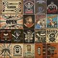 Barber pólo metal estanho sinal do vintage barbearia decoração café bar pub cartaz placas decorativas decoração para casa 20x30cm
