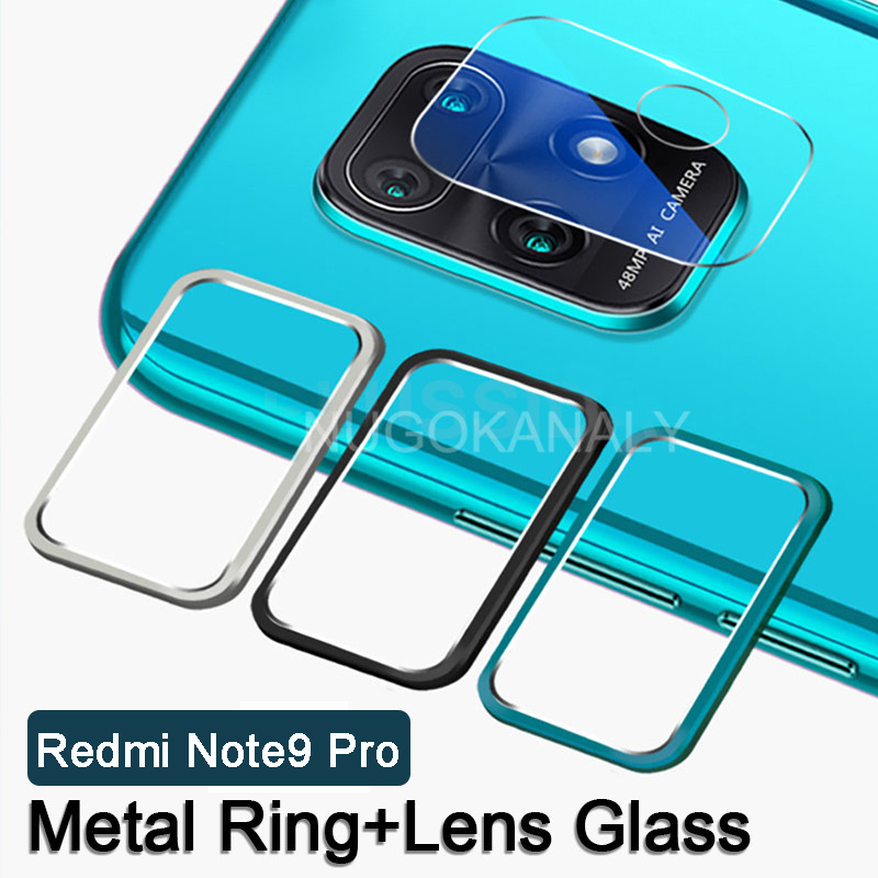 Camera Lens Tempered Glass Metal Ring Protective Case for Xiaomi Redmi Note 9 Pro Max 9s Mi 10X 5G 9 S Screen Protector Cover(China)