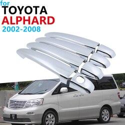 Luxuriöse Chrom Griff Abdeckung Trim Set für Toyota Alphard AH10 2002 ~ 2008 Zubehör Auto Aufkleber 2007 2006 2005 2004 2003