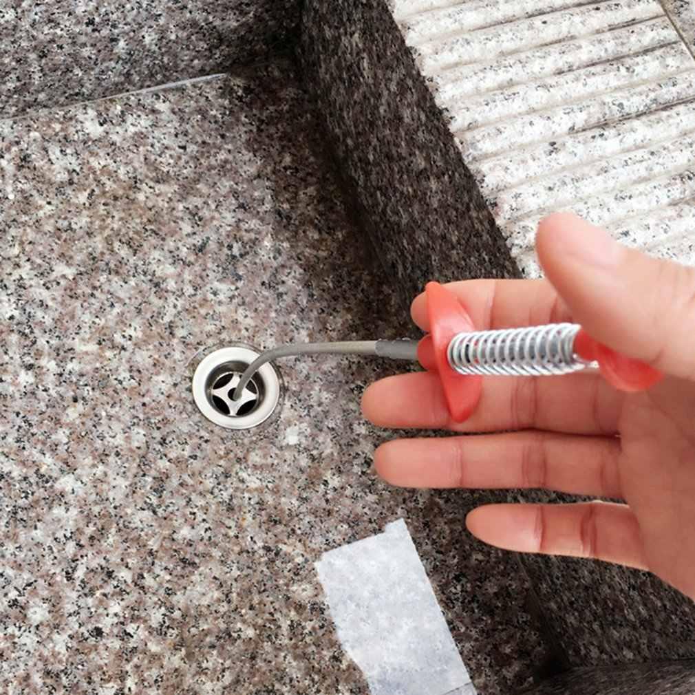 Alcantarillas de presión dobladas a mano Clip Dispositivo de dragado de alcantarilla de basura manija de limpieza de cabello drenaje dragado de tubería gancho