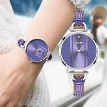 Dom moda simples lazer bonito estilo popular natação à prova dwaterproof água menina relógio relógio feminino relógio de quartzo de couro