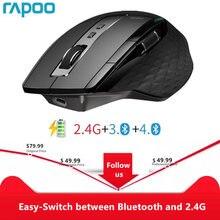 Rapoo MT750L/MT750S Wiederaufladbare Multi modus Drahtlose Maus Einfach Schalter zwischen Bluetooth und 2,4G bis zu 4 geräte für PC und Mac