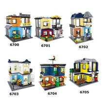 Hsanhe City Series blocs de construction magasin de rue Architecture animalerie Couture billard hall opéra enfants jouet éducatif cadeau 6700(China)