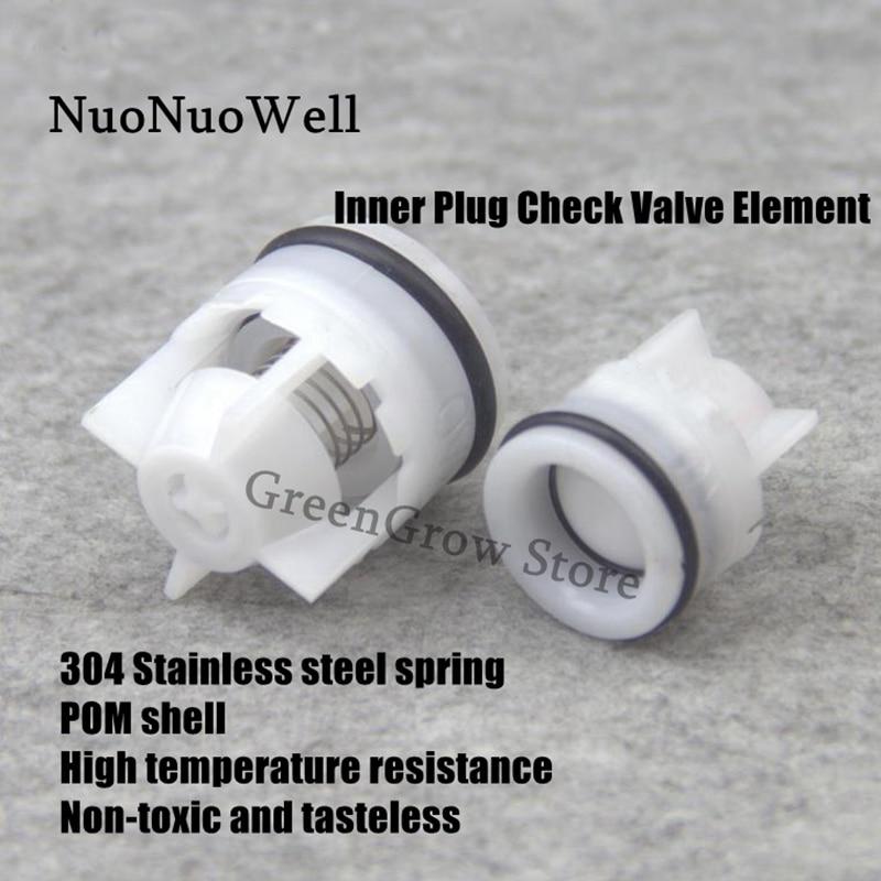 20pcs/2pcs Outer Dia 10~32mm Inner Plug Check Valve Element Water Treatment Non-return Valve Spool 304 Stainless Steel Spring