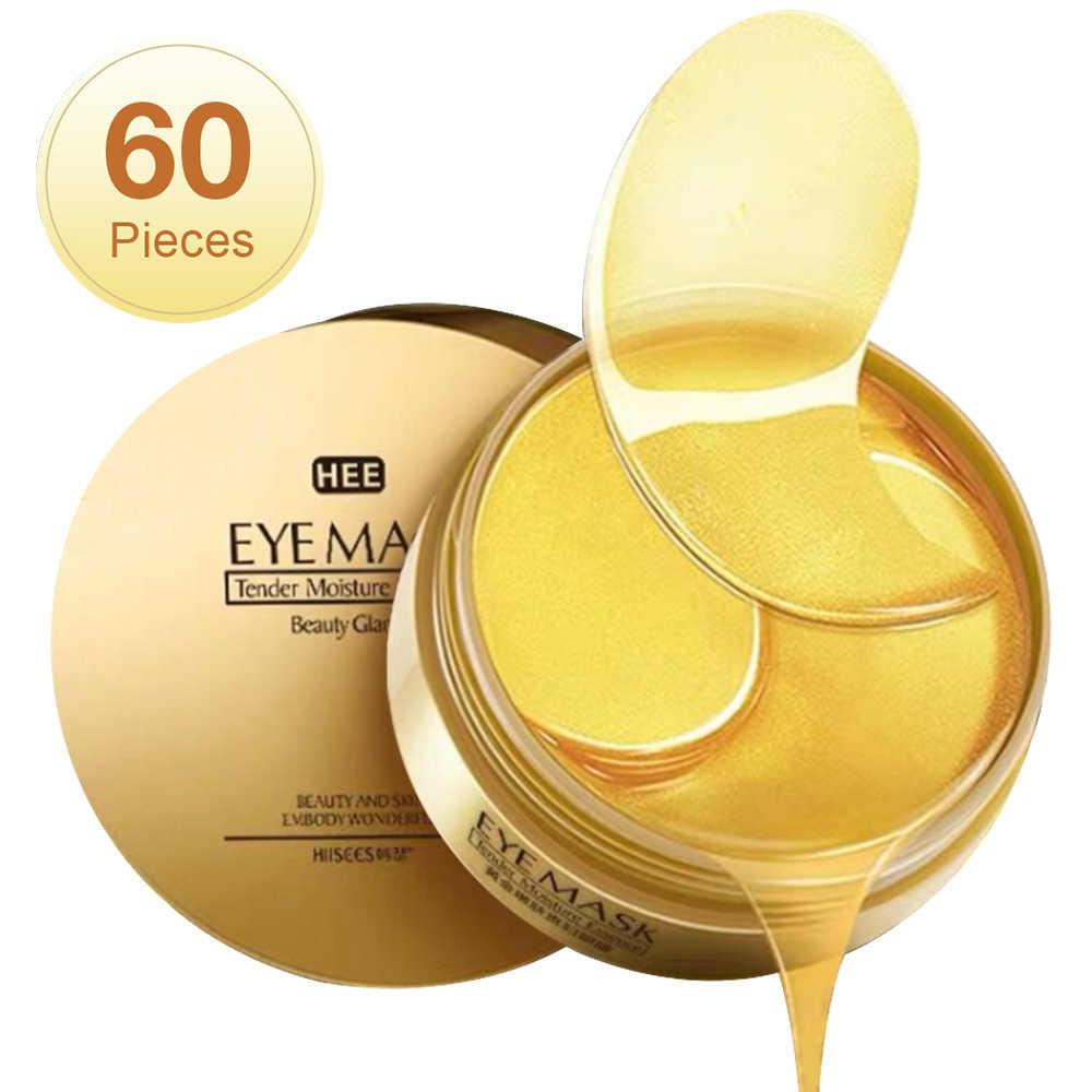 60 Pcs Hyaluronic Acid Perbaikan Mata Patch Menghapus Gelap Lingkaran Pelembab Masker Mata Crystal Kolagen Gel Masker Mata Perawatan Kulit