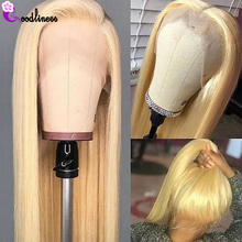 13 #215 4 HD przejrzyste koronki przodu peruka wstępnie oskubane miód blond 613 koronkowa peruka na przód prosto koronki przodu włosów ludzkich peruk Remy tanie tanio Goodliness long Proste CN (pochodzenie) Remy włosy Ludzki włos Pół maszyny wykonane i pół ręcznie wiązanej Wszystkie kolory