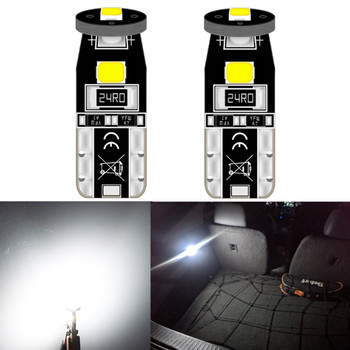 2x Canbus White LED bulb Interior dome map License plate Light for VW golf 7 4 Polo 6R 6C 9N 9N3 6N 6N1 6N2 gti mk6 touareg gp image