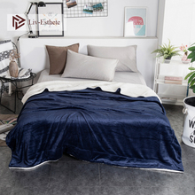Liv-Esthete Dark Blue Warm Sherpa Blanket Portable Car Throw Bed Sofa Blanket Bed Fleece Throw Funny Plush Bedspreads Wholesale